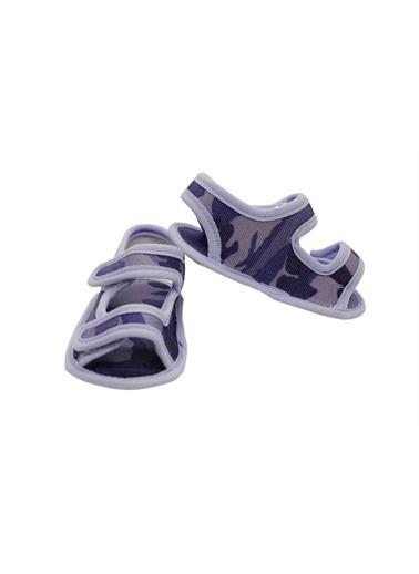 First Step Çift Şeritli Yeşil Sandalet-G-2081 Mavi
